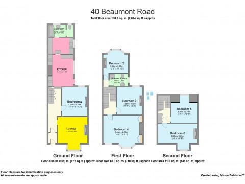 Beaumont Road, Greenbank, Plymouth : Floorplan 1