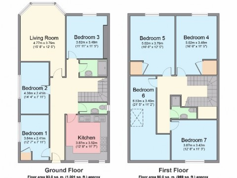 1B Clifton Place, North Hill, Plymouth : Floorplan 1